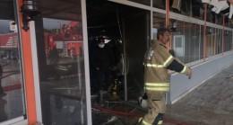İlçe başkanının kuruyemiş fabrikasında yangın paniği
