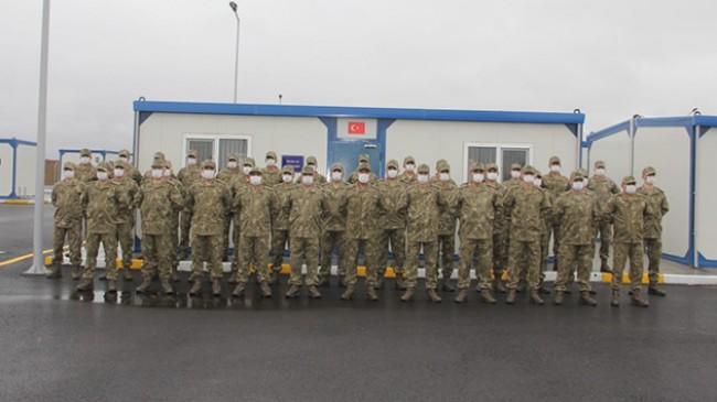 Türk ve Rus Ortak Gözetim Merkezi'nde görev yapacak Türk askerleri Azerbaycan'da