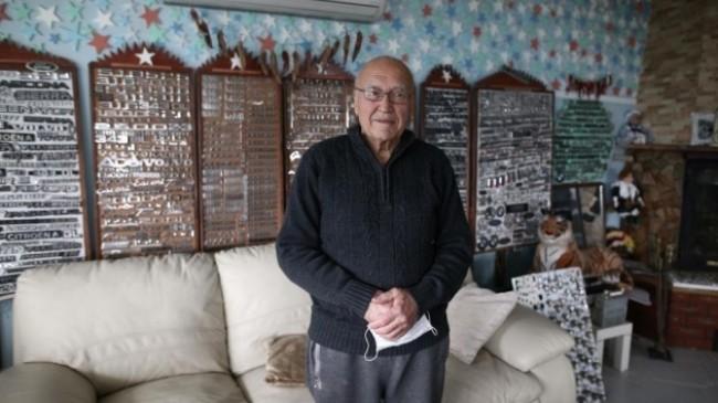 79 yaşındaki gurbetçiden ilginç koleksiyon