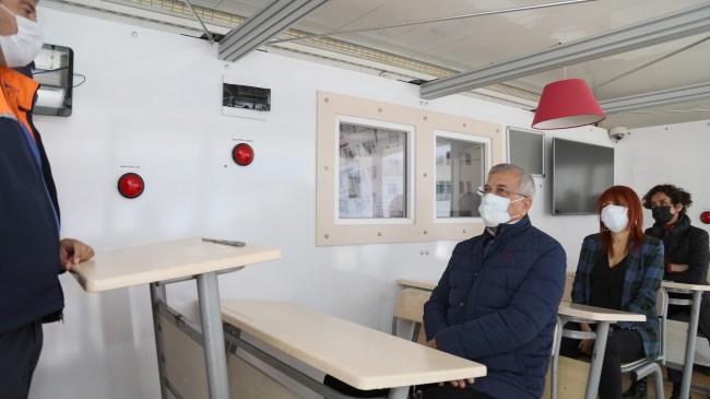 Deprem Simülasyon Tırı Mezitli'de