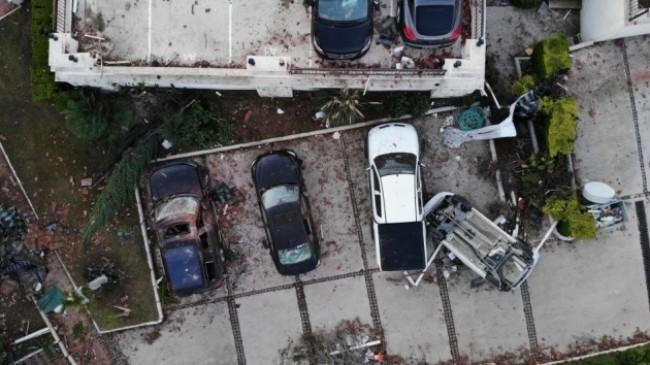 Alaçatı'daki hortumu yaşayanlar uçak düştü sanmış