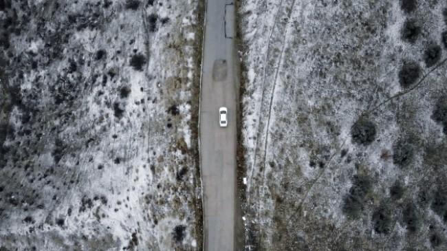Ankara'da kar yağışı ve sis havadan görüntülendi