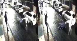 Beyoğlu'nda işyerinin kurşun yağmuruna tutulduğu anlar kamerada