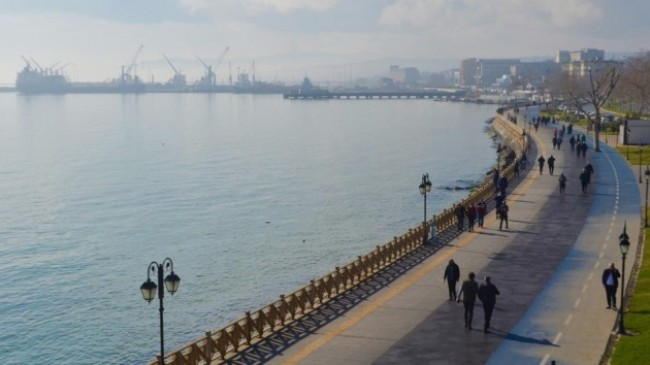 Fırtına sonrası Marmara Denizi sütliman