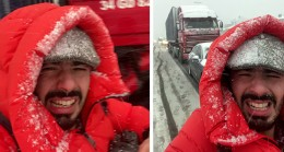 İstanbul'a yağan kar habercileri de zor durumda bıraktı