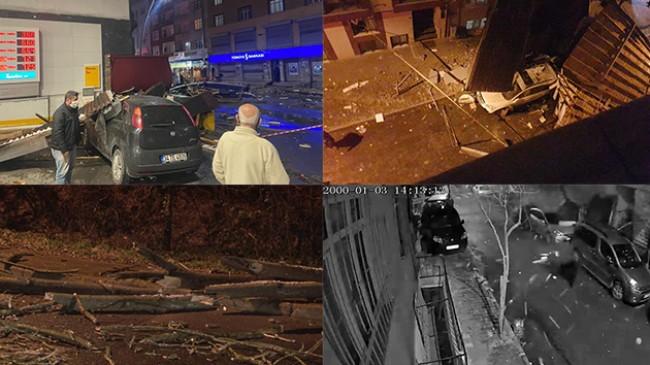 İstanbul'da fırtına! Çatıları uçurdu