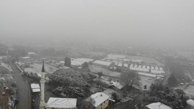 İstanbul'da kar yağışı havadan görüntülendi