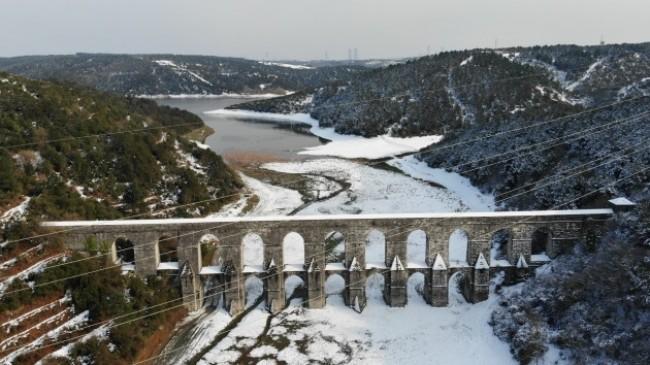 İstanbul'un barajları karların erimesini bekliyor