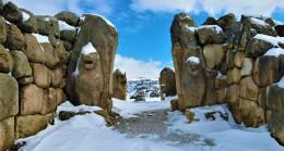 Medeniyetler beşiği 'Hattuşa' kar altında