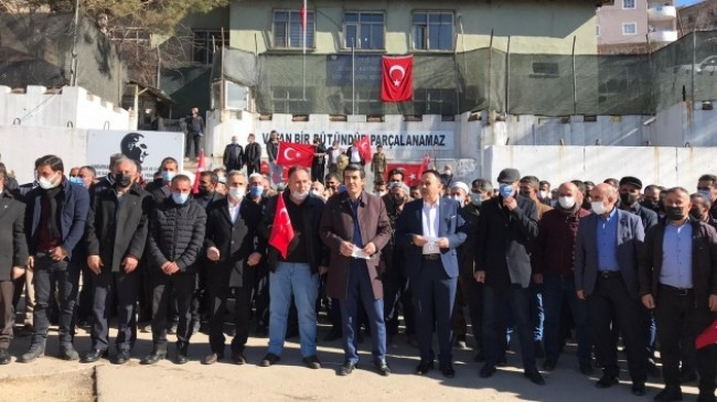 Şemdinli'de PKK terör örgütüne kınama