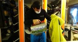 Uludağ'da kayak malzemeleri tek tek dezenfekte ediliyor