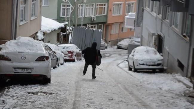 Vatandaşların karla imtihanı