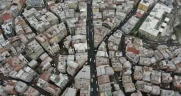 Beyaz örtü altındaki İstanbul drone ile görüntülendi