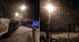 Kastamonu'da kar yağışı etkili oluyor!