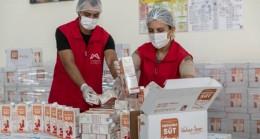 Sütler Üreticiden, Hamilelere Ulaştırılması Büyükşehir'den